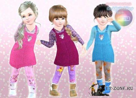 Набор одежды для девочек от natef005