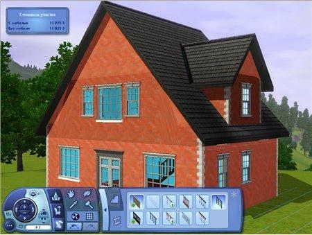 Симс 3: строим дом с мансардой
